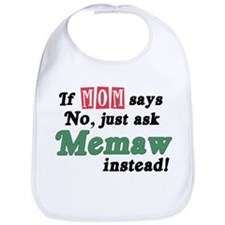 Just Ask Memaw! Bib