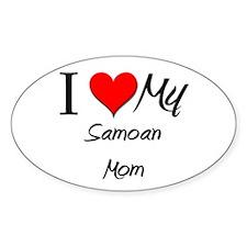 I Love My Sammarinese Mom Oval Decal