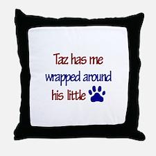 Taz Has Me Wrapped Around His Throw Pillow