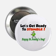 """Happy St. Paddy's Day 2.25"""" Button"""