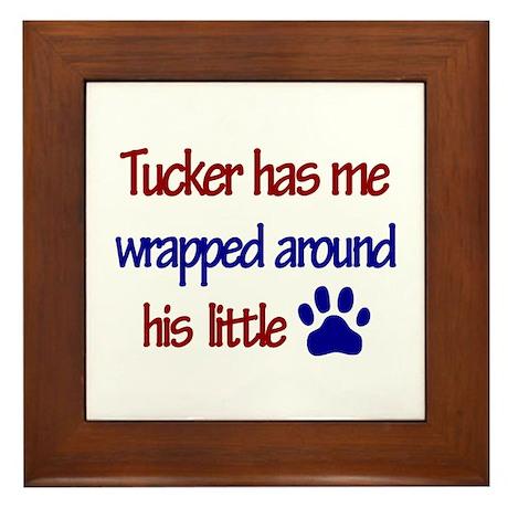 Tucker Has Me Wrapped Around Framed Tile