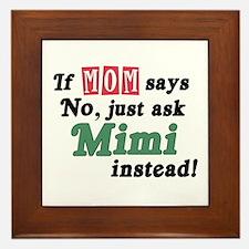 Just Ask Mimi! Framed Tile