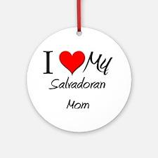 I Love My Rwandan Mom Ornament (Round)