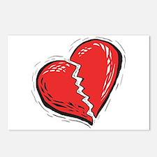 BROKEN HEART Postcards (Package of 8)