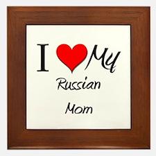 I Love My Romanian Mom Framed Tile