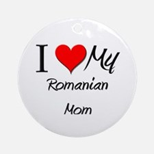 I Love My Qatari Mom Ornament (Round)