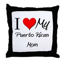 I Love My Portuguese Mom Throw Pillow