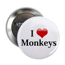 "I Love Monkeys 2.25"" Button"
