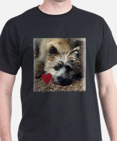 Cairn Terrier Play Bow Valentine T-Shirt