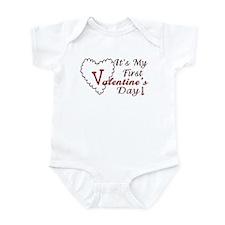 It's my first Valentine's day Infant Bodysuit