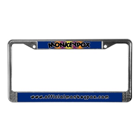 Monkeypox License Plate Frame