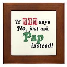 Just Ask Pap! Framed Tile