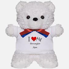 I Love My Norwegian Mom Teddy Bear