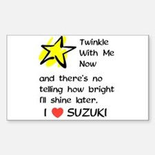 Twinkle With Me Now Rectangle Decal