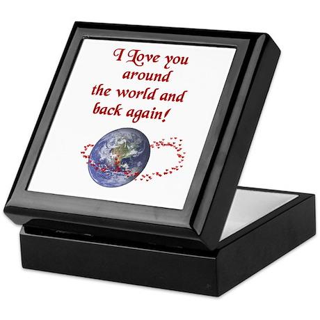Love you Around the World & Back Keepsake Box