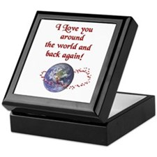 Love you Around the World & Back Keepsake Box