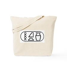 """""""Beer"""" Hieroglyphic Tote Bag"""