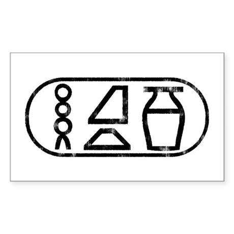 """Beer"" Hieroglyphic Rectangle Sticker"