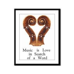 Music is Love... Framed Panel Print