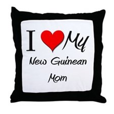 I Love My New Guinean Mom Throw Pillow