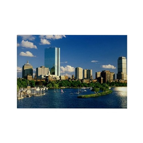 Boston Back Bay Area Rectangle Magnet (10 pack)