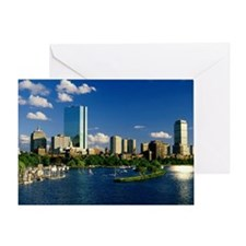 Boston Back Bay Area Greeting Card