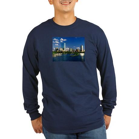 Boston Back Bay Area Long Sleeve Dark T-Shirt