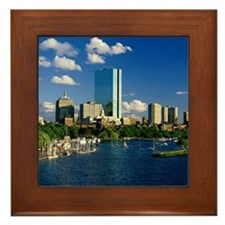 Boston Back Bay Area Framed Tile