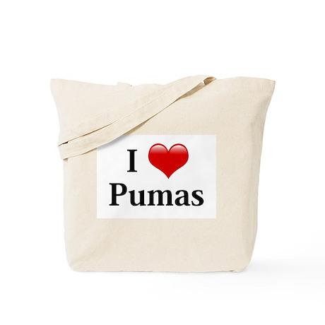 I Love Pumas Tote Bag