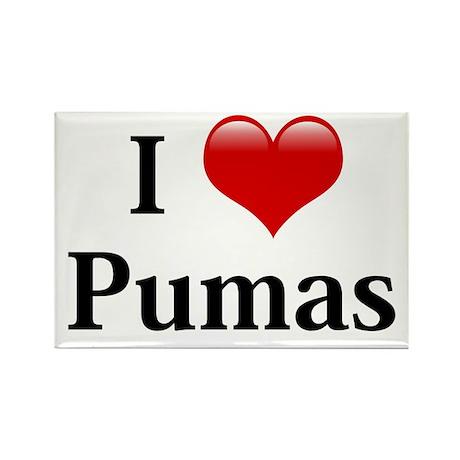 I Love Pumas Rectangle Magnet