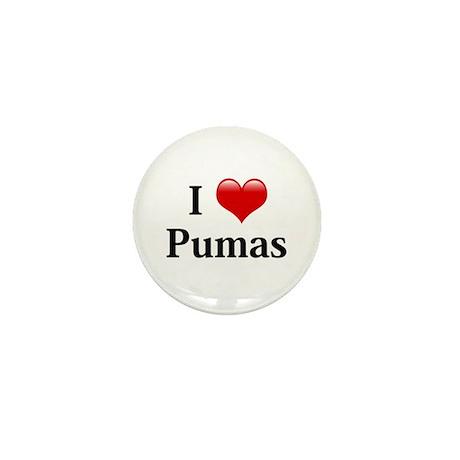 I Love Pumas Mini Button