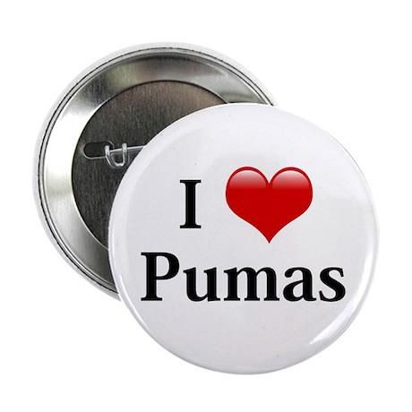 """I Love Pumas 2.25"""" Button"""