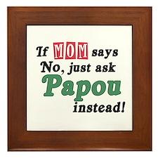 Just Ask Papou! Framed Tile
