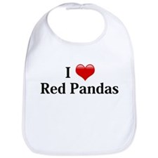 I Love Red Pandas Bib