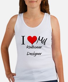 I Heart My Knitwear Designer Women's Tank Top