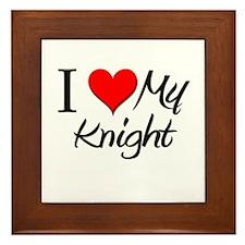 I Heart My Knight Framed Tile