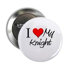 "I Heart My Knight 2.25"" Button"