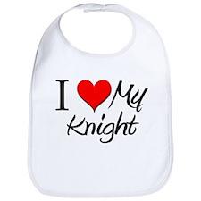 I Heart My Knight Bib