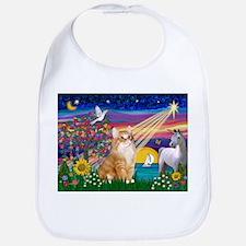 MagicNight/Orange Tabby Cat Bib