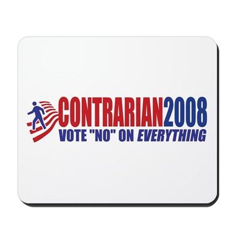 Contrarian Party - Vote No On Mousepad