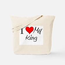 I Heart My King Tote Bag