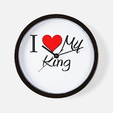 I Heart My King Wall Clock