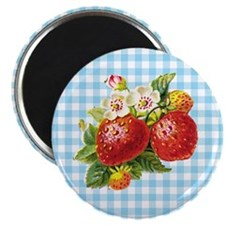 "Retro Strawberry 2.25"" Magnet (10 pack)"