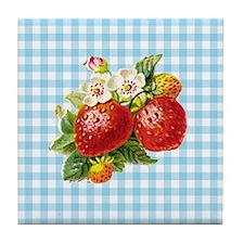 Retro Strawberry Tile Coaster