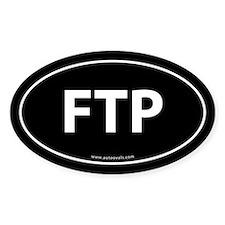 FTP (File Transfer Protocol) Sticker -Black (Oval)
