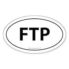 FTP (File Transfer Protocol) Sticker -White (Oval)