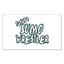 Future Sumo Wrestler Rectangle Decal