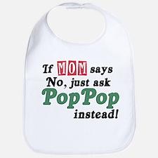 Just Ask PopPop! Bib