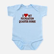 """I Love My Foundation Quarter Horse"" Infant Bodysu"