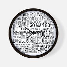 """Famous Names"" Wall Clock"